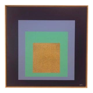 Large Modern Art Original Framed Fine Art Print by Tony Curry For Sale