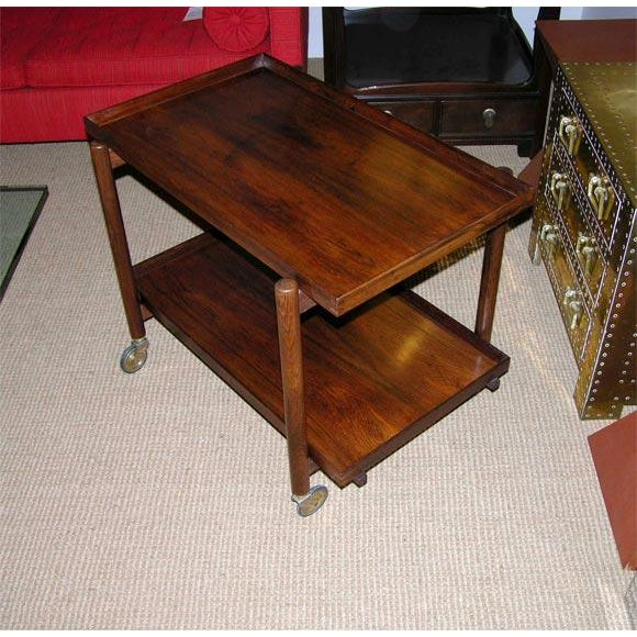 Poul Hundevad Poul Hundevad Danish Rosewood Serving Trolley For Sale - Image 4 of 9