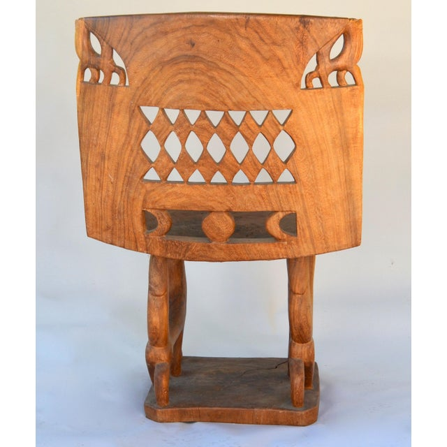 African Benin Tribal Wood Chair For Sale - Image 9 of 10