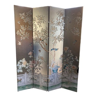 Four-Panel Wallpaper Screen For Sale