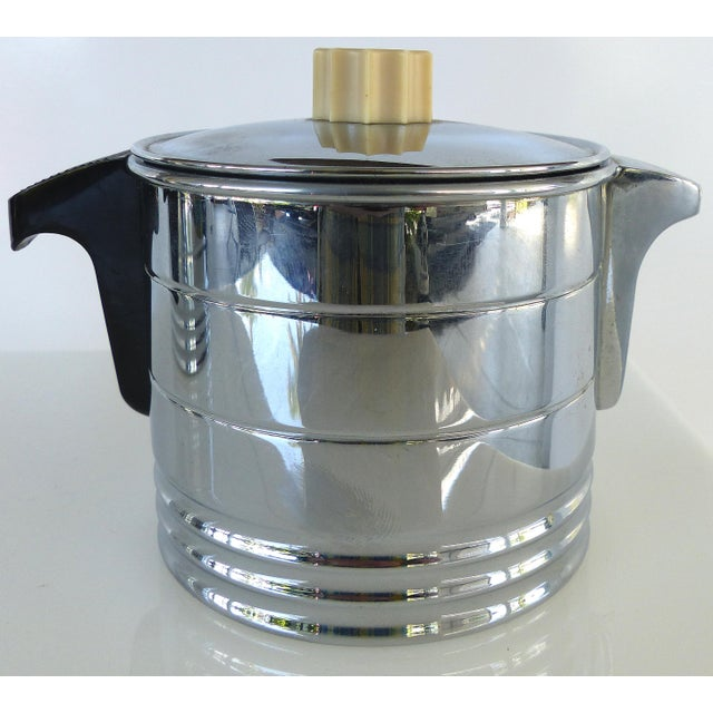 1960s 1960s Vintage General Electric Chrome Coffeemaker, Cream & Sugar - Set of 3 For Sale - Image 5 of 12