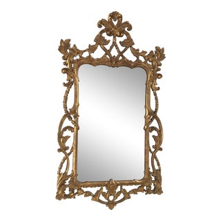 1940s Vintage Italian Gold Mirror For Sale
