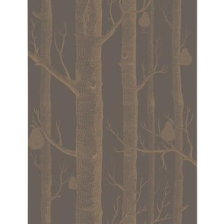 Cole & Son Woods & Pears Wallpaper Roll - Bronze/Black For Sale
