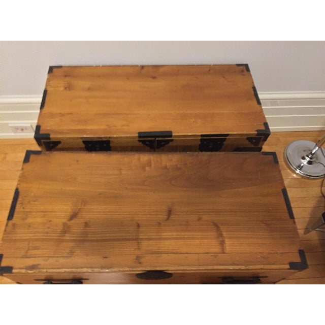 Japanese Antique Kasane Chest on Chest - Image 7 of 9