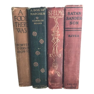 Early 20th Century Vintage Book Collection - Set of 4
