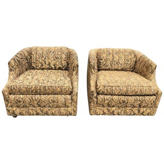 "Bernhardt ""Flair"" Club Chairs - a Pair For Sale"