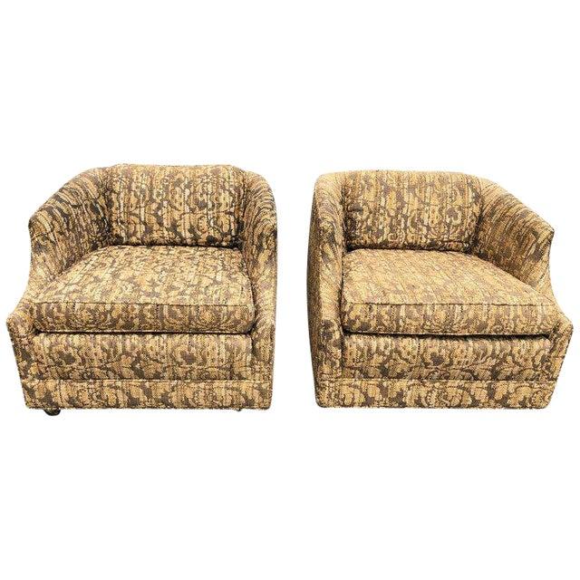 """Bernhardt """"Flair"""" Club Chairs - a Pair For Sale"""