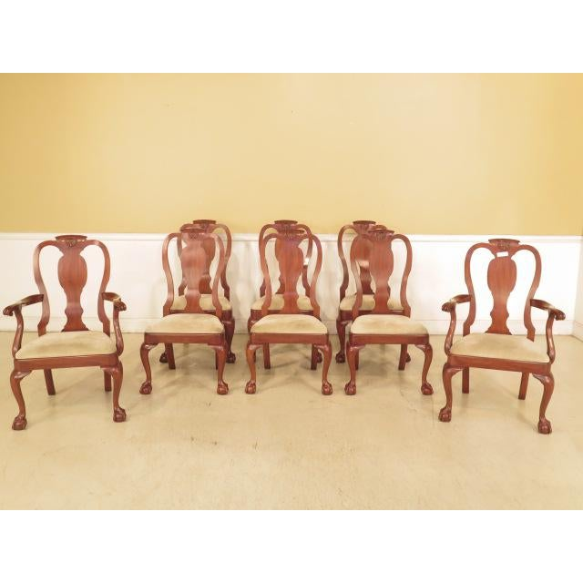 Henkel Harris Ball & Claw Cherry Dining Room Chairs - Set of 8 - Image 2 of 11