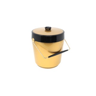 Vintage Gold and Black Westbend Thermo-Serv Ice Bucket For Sale