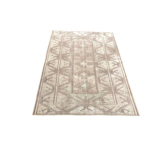 Traditional Vintage Floor Rug - 4′2″ × 6′ For Sale