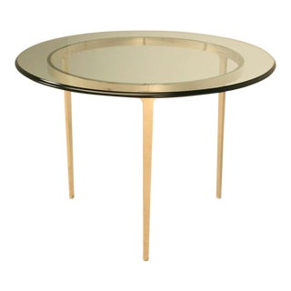 Customizable Round Bronze Table by Old Plank For Sale