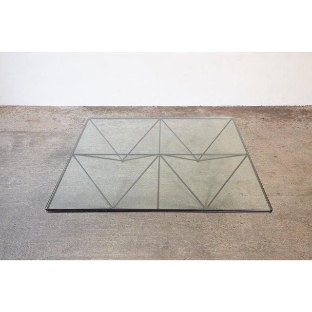 Paolo Piva Alanda Geometric Glass Coffee Table for B&b Italia, 1980s, Italy For Sale - Image 9 of 13