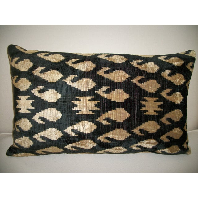 Vintage Silk Velvet Accent Pillow - Image 2 of 3
