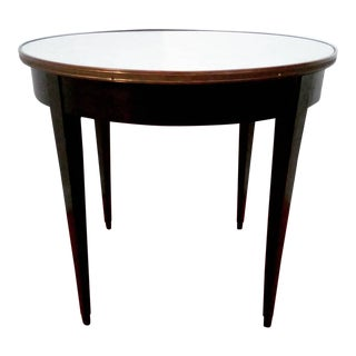 1950s Italian Marble Top Side Table For Sale