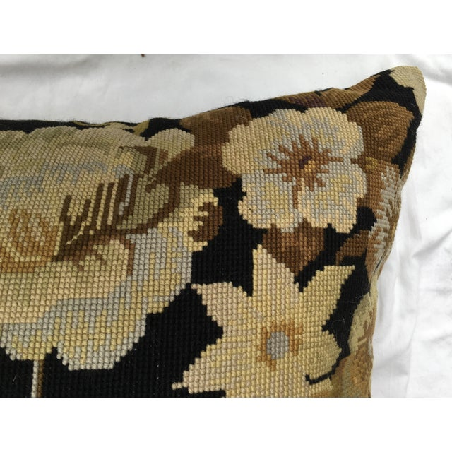 French Needlepoint Aubusson Pillow For Sale In Los Angeles - Image 6 of 7