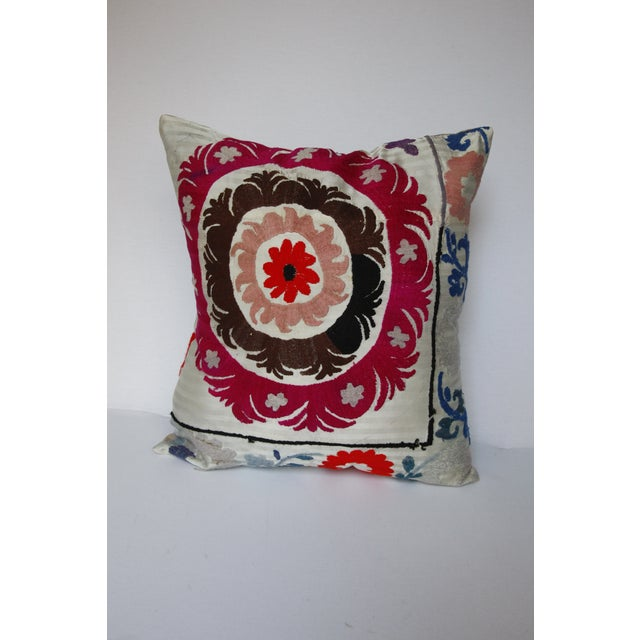 1970s Boho Chic Decorative Needlework Throw Sofa Pillow Cover For Sale - Image 10 of 12