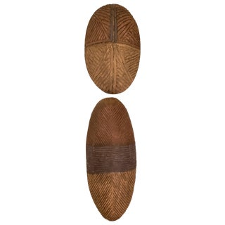 Dissimilar Decorative African Shields - Set of 2 For Sale