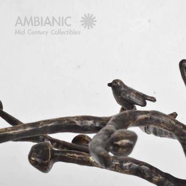 Mid-Century Modern Bronze Coat Rack After Giamcometti For Sale - Image 10 of 11
