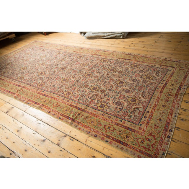 "Ceramic Antique Distressed Malayer Rug Runner - 6'5"" X 12'8"" For Sale - Image 7 of 13"