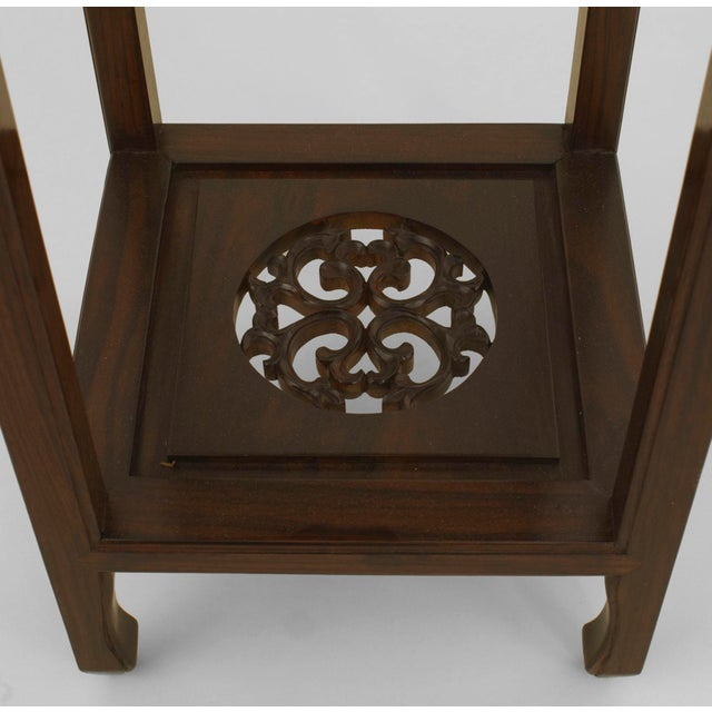 Late 19th Century Asian Chinese Rosewood Pedestals- a Pair For Sale - Image 5 of 6