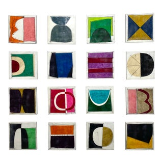 """Encaustic Collage Installation by Gina Cochran """"Someday"""" - Set of 16 For Sale"""