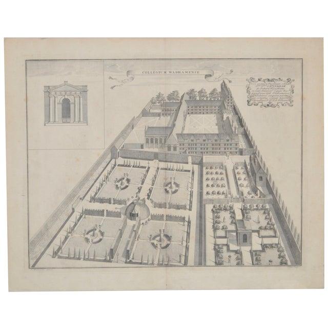 Rare Birdseye View of Wadham College Engraving - Image 1 of 10