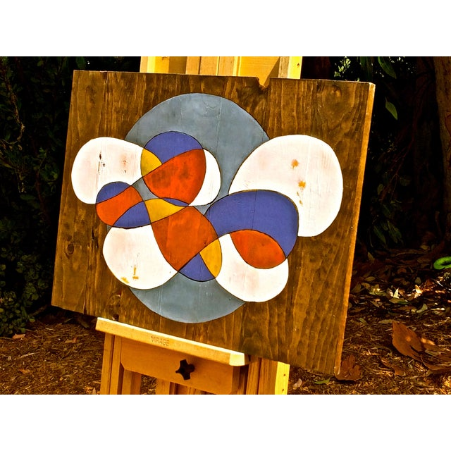 Contemporary Abstract Stained Wood - Image 2 of 3