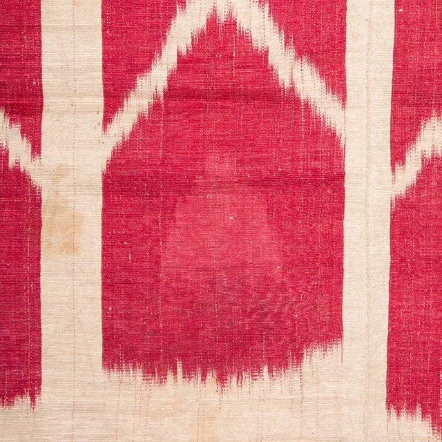 19th Century Uzbek Silk Ikat Panel For Sale - Image 4 of 6
