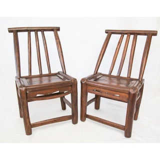 Antique 19th-Century Chinese Child's Chairs - a Pair Preview