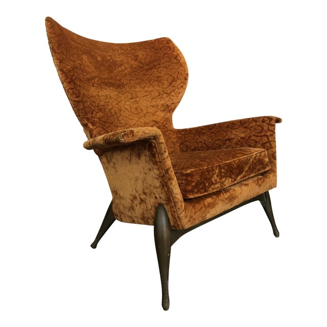 1970s Vintage Ben Seibel Wingback Lounge Chair For Sale