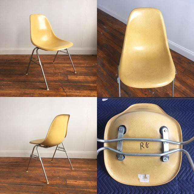 Vintage Herman Miller Eames Fiberglass Shell Chairs - Set of 4 - Image 5 of 10