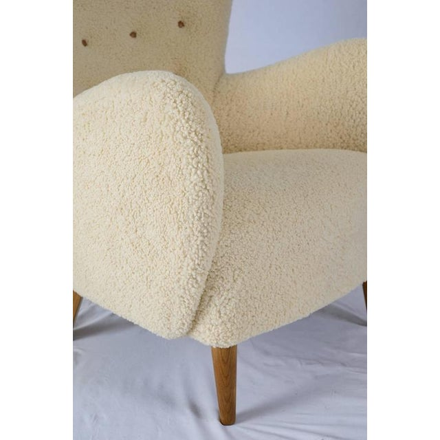Scandinavian Sheepskin Lounge Chair - Image 10 of 10