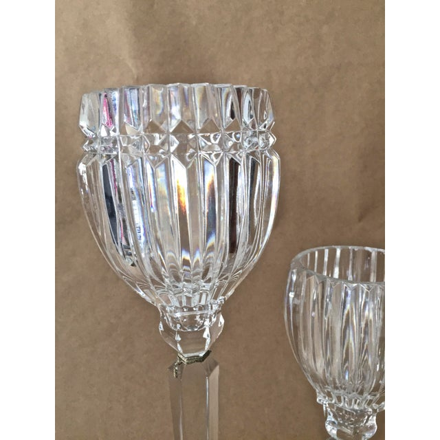 Vintage Crystal Candle Holders - Set of 3 For Sale - Image 4 of 7