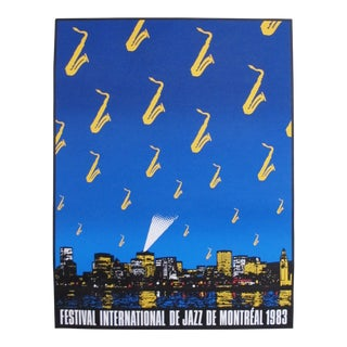 1983 Montreal International Jazz Festival Poster