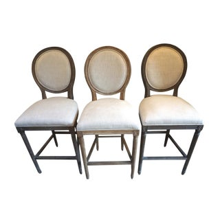 Restoration Hardware French Farmhouse Bar Stools - Set of 3