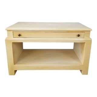 Overscale Artisan Plastered Wood Nightstand / Tv Stand . For Sale
