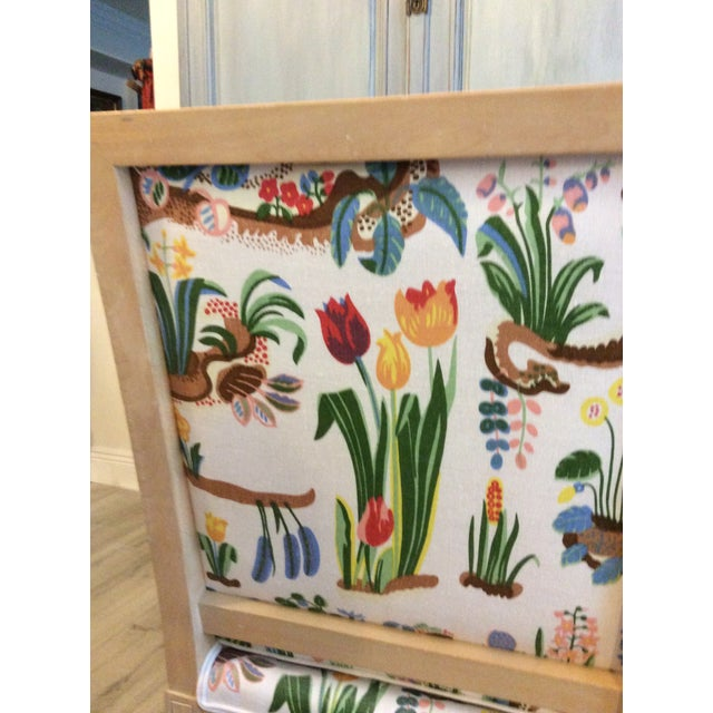 Josef Frank 1980s Vintage Swedish/French Bergere Style Chair For Sale - Image 4 of 12