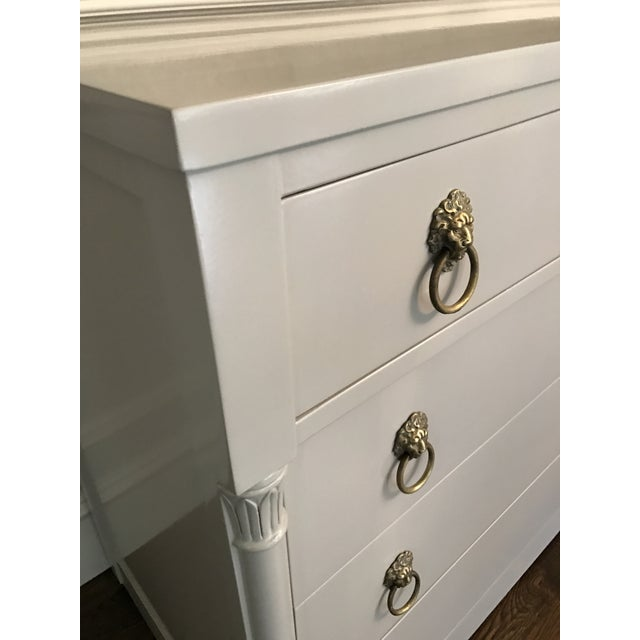 Vintage Rway Gray Lacquered Lion's Head Chest of Drawers - a Pair - Image 10 of 11