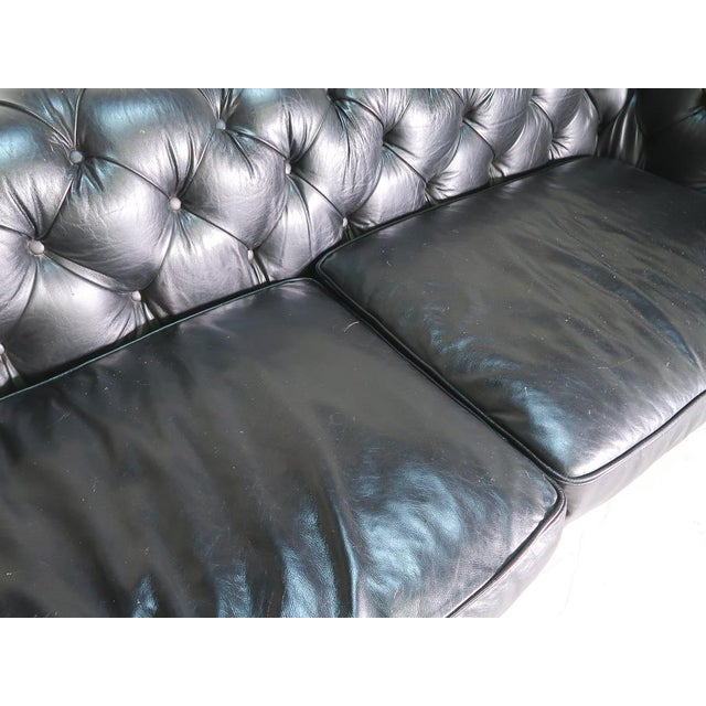 Restoration Hardware Restoration Hardware Kensington Leather Sofa For Sale - Image 4 of 8