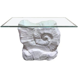 Rockwork Nautilus Motif Console, in the Manner of Sirmos For Sale