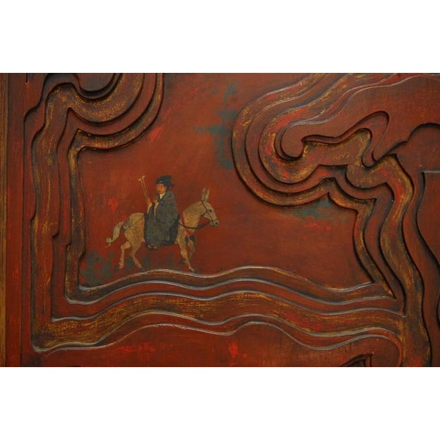 Chinese Carved Temple Courtyard Door Panels - A Pair - Image 5 of 10