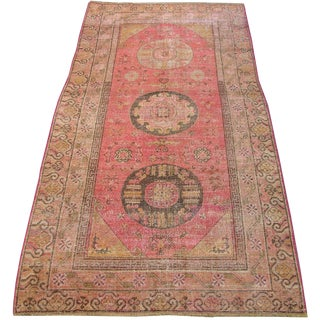 C. 1900s Antique Handmade Samarkand Rug - 5′8″ × 12′ For Sale