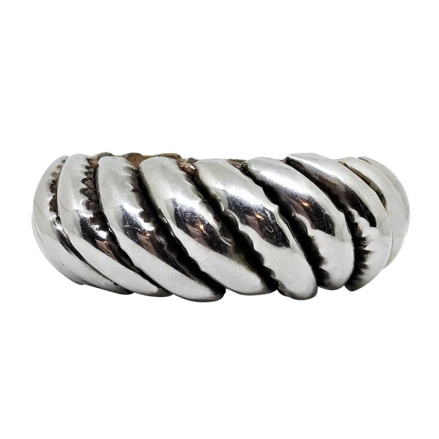 Silver Plated Wood Bangle For Sale