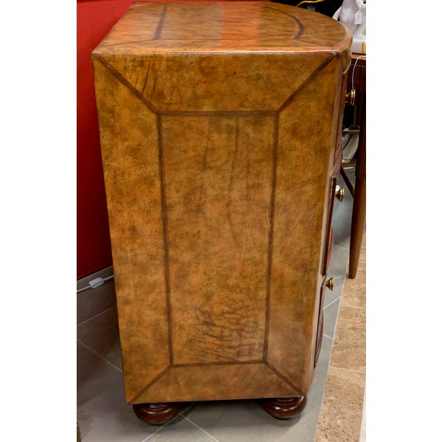 1990s Lineage Leather and Pencil Rattan Chest For Sale - Image 5 of 11