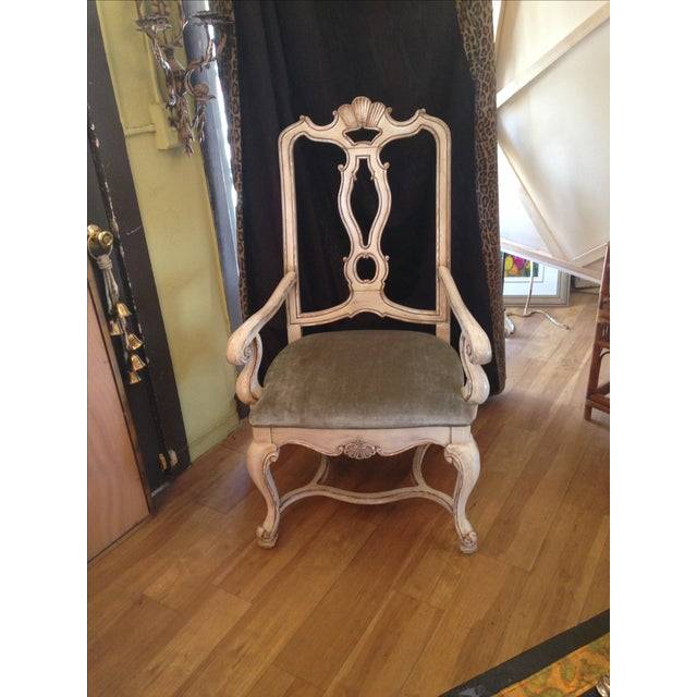 Carved Italian Armchairs - A Pair - Image 8 of 9