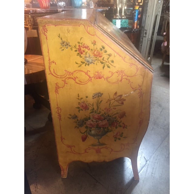 Late 19th Century Late 19th Century Italian Painted Commode/ Slant Front Writing Desk For Sale - Image 5 of 13