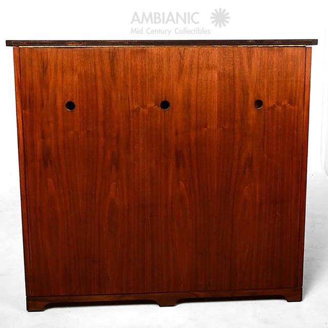 Mid-Century Modern Walnut Cabinet Desk For Sale - Image 10 of 10