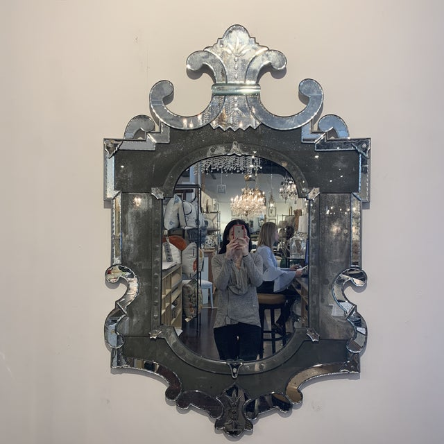 Beautiful and unique. Gorgeous antique mirror. Beautiful variation in color.