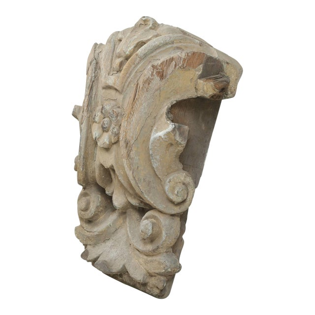 Antique Italian Carved Decorative Architectural Element For Sale
