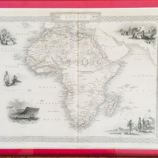 1853 Gilt Wood Framed Map of Africa Engraved Print Preview